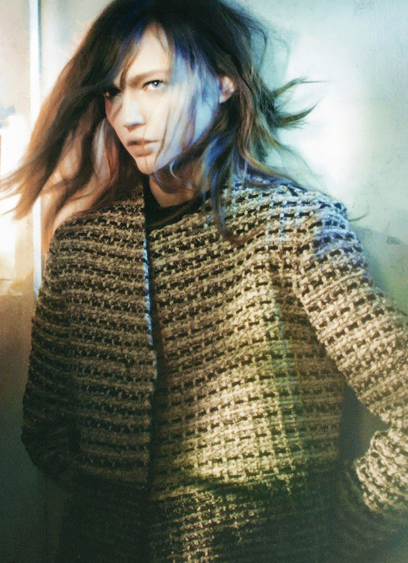Sasha Pivovarova by David Sims for Proenza Schouler Fall 2013 ad campaign.