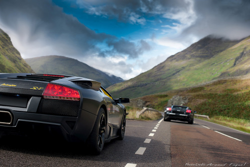 automotivated:  Lamborghini Murcielago LP640 & Gallardo Nera (by prestigesportcars)