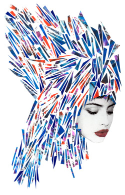 wetheurban:   #ART: FASHION MIXED MEDIA ILLUSTRATIONS BY NIKY ROEHREKE These very beautiful and fashionable mixed media illustrations are the work of German/Japanese artist Niky Roehreke. Roehreke Graduated from the Central Saint Martins Graphic Design course in rainy London in 2008, Niky currently splits her time between sunshiny Tokyo and New York.  She has created illustrations for clients such as NYLON, Jalouse, Tokion, SOEN, Stones Throw Records, Mercedes-Benz mixed tape, + clothing brands such as John Lawrence Sullivan and Urban Outfitters amongst others. Her daily routine include drawing, doodling, painting, cutting out pieces of paper and uploading one image per day onto her website. Peep more of her work after the jump:  Read More