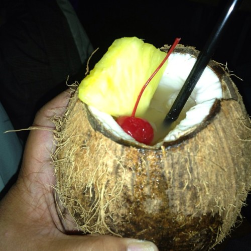Forget Friday Margaritas, let's do coconut cocktails instead. #nofilter #coconut #happyhour #drinks #tgif #popular #iphone5 #photooftheday #tropical (at Kingston Hall)