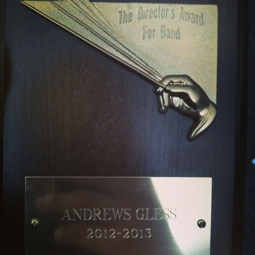 My award. #bandaward #band #directorsaward