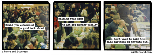 softerworld:  A Softer World: 939 (sexed at the murder hotel.) buy this print