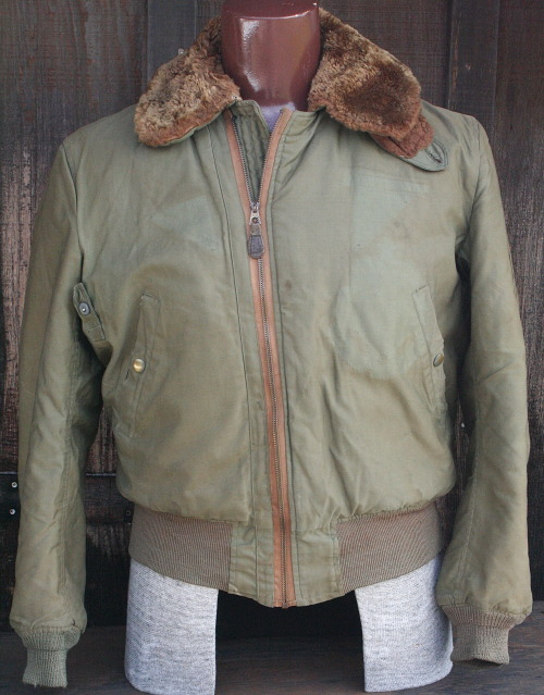 formfollowsfunctionjournal:    1940's B-15a flight jacket - Korean War used, 8th Field Artillery.