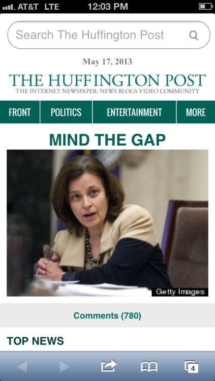 Cool headline huffington post……