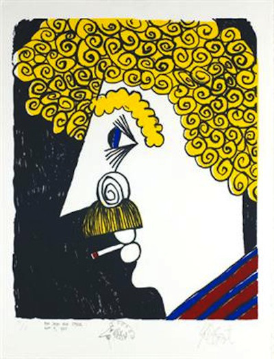 moonsinging:  Kurt Vonnegut, self portrait 1995