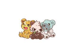 pokemon ursaring teddiursa beartic cubchoo pancham pangoro