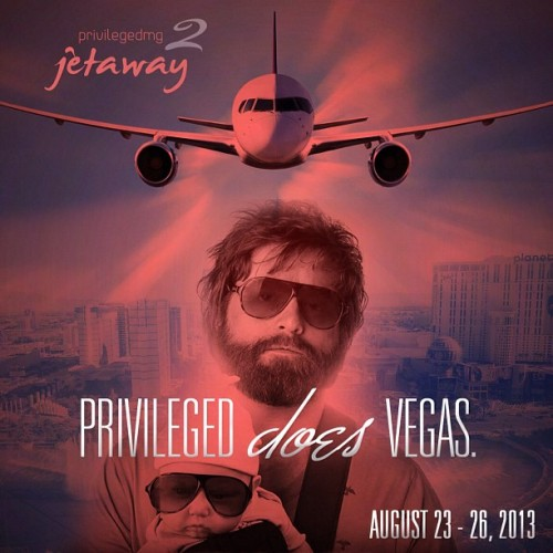 Mark the dates people! It's official, Jetaway 2 is on! Vegas here we come! I will officially be walking around with Monkey tied to my neck 🐒🙈🙉🙊! His name will be Julius! Invite or inquiry only! Don't miss out, get those deposits in! Space is limited. #privileged @privmg #lasvegas #nyc #jetaway #privilegedjetaway sam@privmg.com