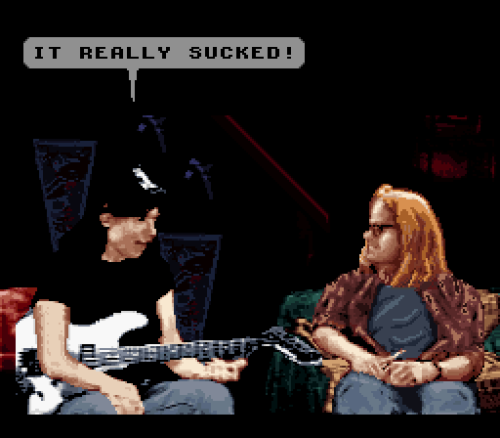 vgjunk:  Wayne accurately sums up his own Super Nintendo game.