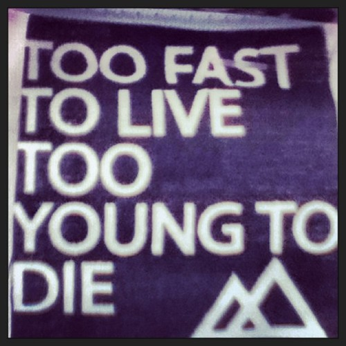 "It's better than that saying ""Live fast, die young"" #life #quote"