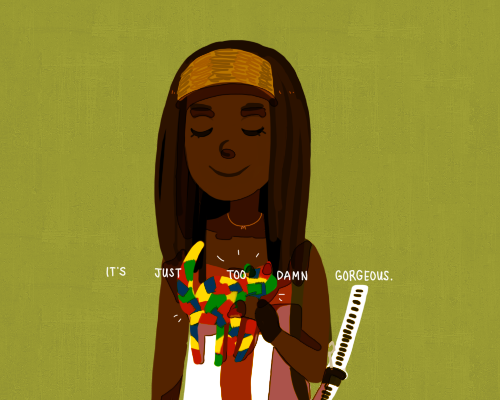 The Walking Dead 3x12 wow Michonne SO CUTE??
