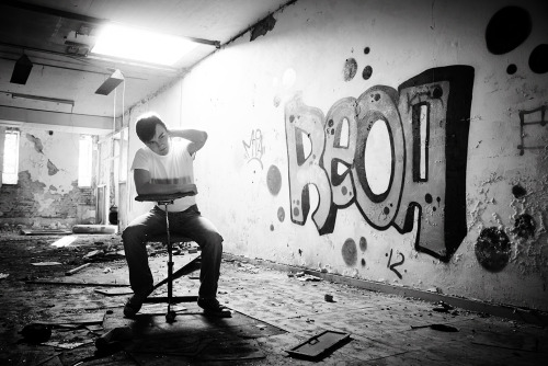 I spent an afternoon in an old burned down building with this cool guy.  After I'd taken the first shot I instantly knew that it should be black and white, the ida of making it in color seems almost impossible to me.. Hope you will enjoy it.  Check out the rest at www.nicklasingemann.com
