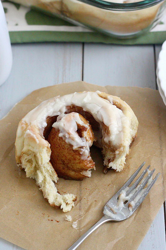 bakeddd:   lighter cinnamon rolls click here for recipe