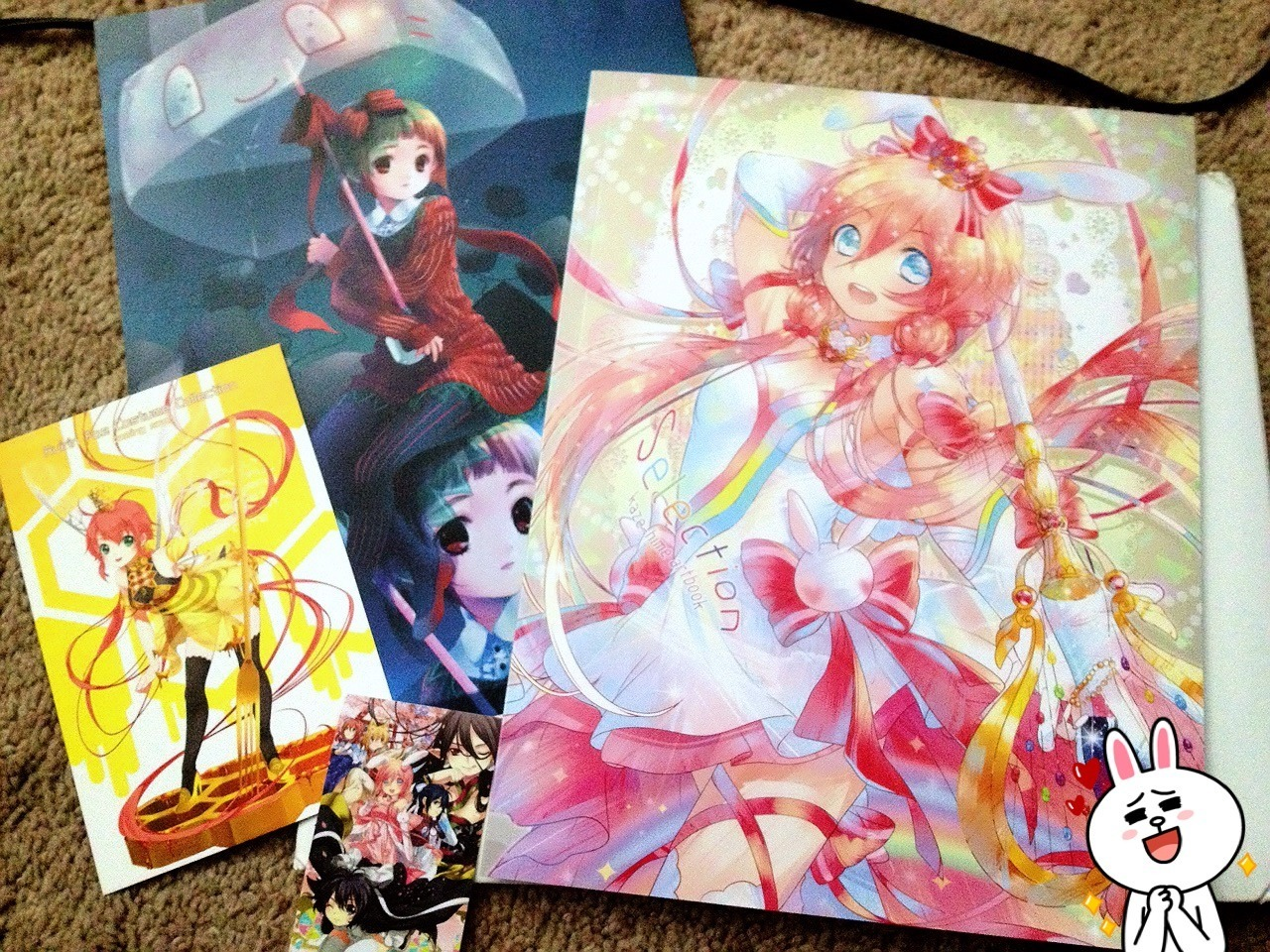 My artbook by Kaze-Hime/Soundless Wind came in today~The cover is really sparkly and stuff xD I'm so happy. You can check out her art here:http://kaze-hime.deviantart.com/and her tumblr here:http://soundlesswind.tumblr.com/