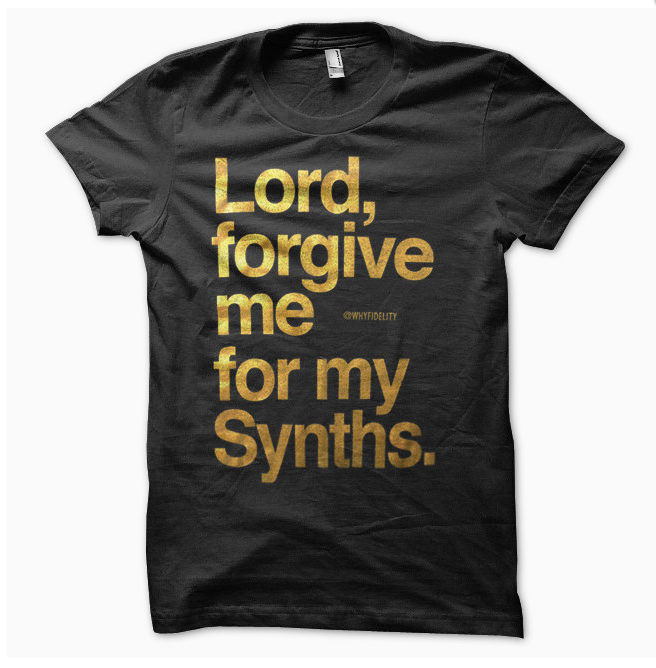 "Gold on Black ""Forgive"" Tee now available @ whyfidelity.net"