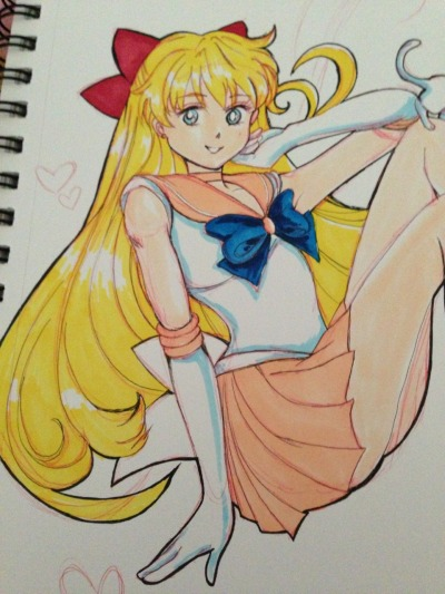 keeperofasongbird:  Sailor Venus doodle…ok guys I'm ready for the new Sailor moon show….