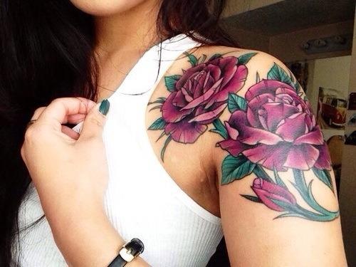 Color tattoo on tumblr - Tattoo rose bras ...