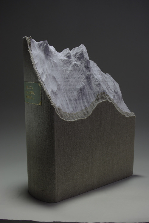 razorshapes:  Guan Yin - Prajna Paramita (2011) - carved artist book