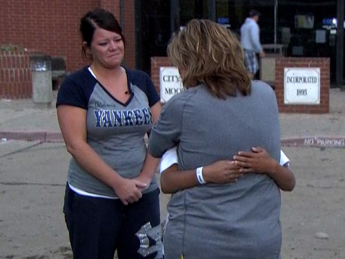Okla. school survivor: Teacher threw herself over us and 'saved our lives' (Photo: TODAY) A fourth-grader at a school that took a direct hit from Monday's deadly tornado in Moore, Okla., described the heroic actions of a teacher who saved his life and others by covering several students with her body to shield them from the storm. Read the complete story.