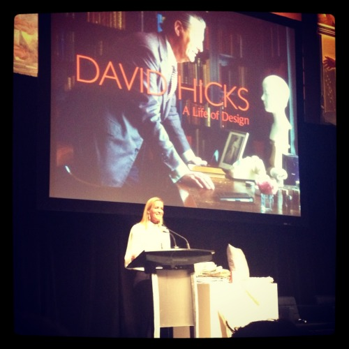 India Hicks at the Design Exchange tonight, talking about her father and design . She's inspirational and a great speaker.