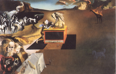 wallflowerwolf:  Salvador Dalí1904–1989 Inventions of the Monsters, 1937 Oil on canvas20 1/4 x 30 7/8 in. (51.4 x 78.4 cm)none