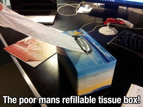 lifemadesimple:  Student tissue box