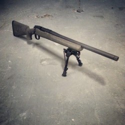 The new new. #700 #remington #308 #precision #shooting #guns #igmilitia #harris #nightforce #hogue #firearms #secondamendment #SPS #tactical #aac #sd