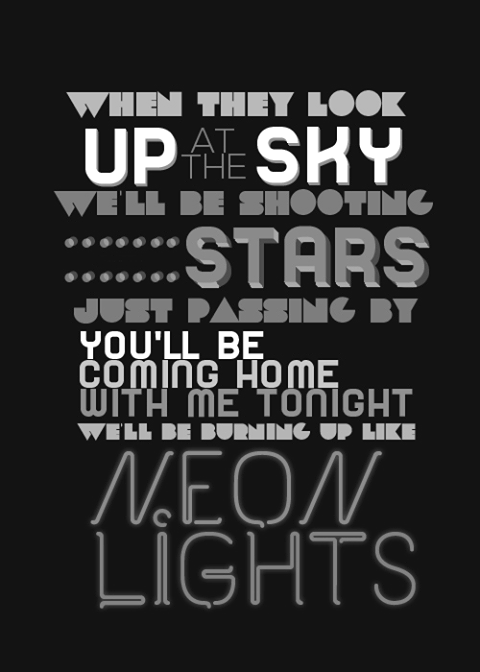 shesafirestarter:  neon lights | via Facebook no We Heart It. http://weheartit.com/entry/61963650/via/cuteandidiotgirl