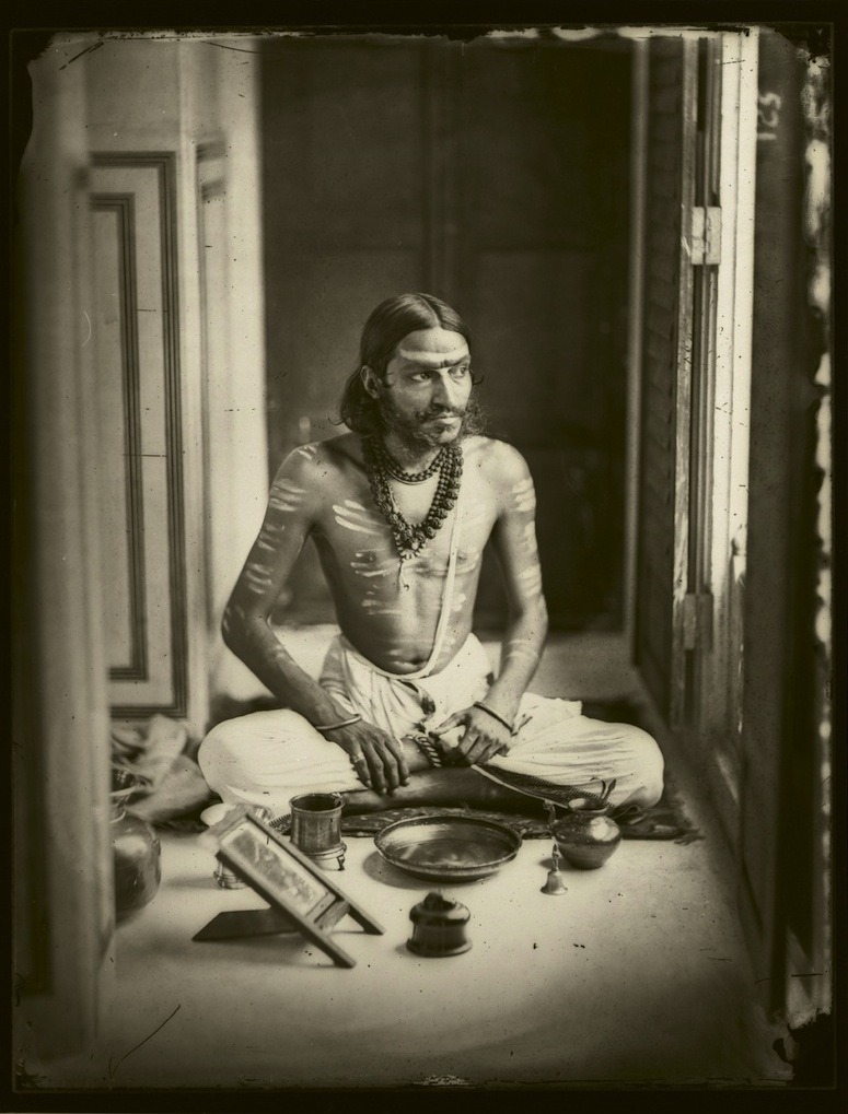 les-sources-du-nil:  Ram Singh II Maharaja of Jaipur (1833-1880) Self Portrait, 1856