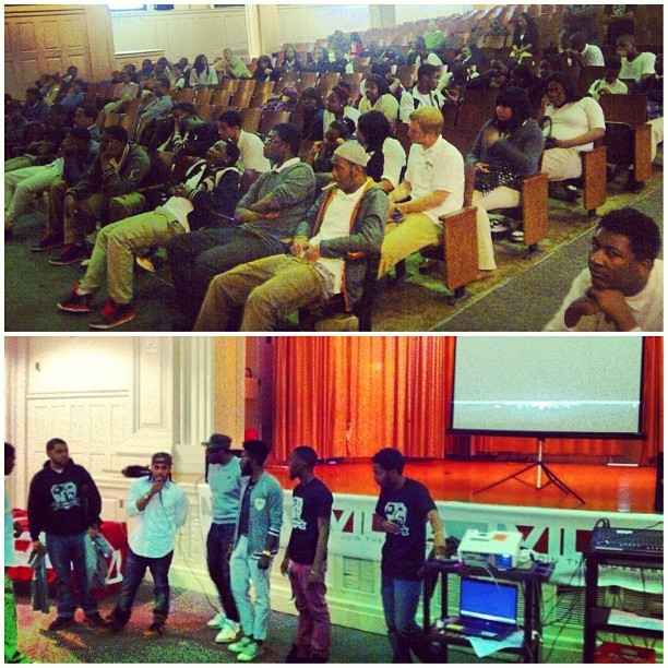 Day 1 of the #LoveStory Documentary High School tour w @TheCoalitioncrew @ my alma mater Germantown High was a success. #Thelovestory part 1 highlights some of the many creative individuals in the new #Philadelphia renaissance of art, fashion, music etc. Being that many of the schools in #Philly are closing, we felt Germantown High would be a great place to start off the tour. We went to talk with their 9th graders about pursuing their dreams and going against certain obstacles in life that may come about. If you would like us to bring this to your school let us know. (Link to video in Bio) #KRTcares #thecoalition #ayobeano #abstractthought #ruVilla #nicethings #KingsRuleTogether #KRT www.kingsruletogether.com