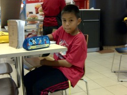 Izzuddin and homework….mega mall