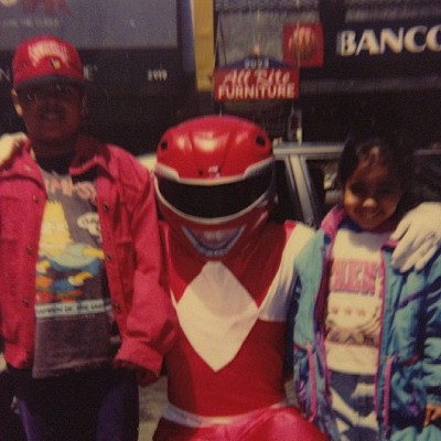 #tbt to when Power Rangers roamed the Bronx and I color coordinated with them.