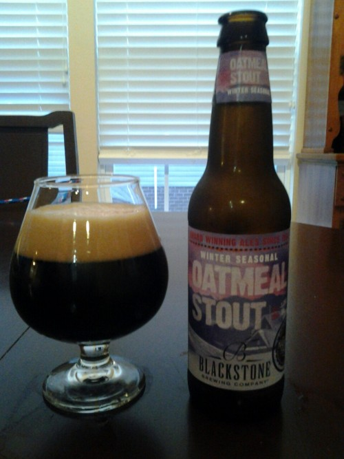 Blackstone Brewery Oatmeal Stout.  One of the best breweries in Nashville.