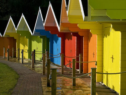 Scarborough Beach Huts ♦ Yorkshire, England | by moggsterb
