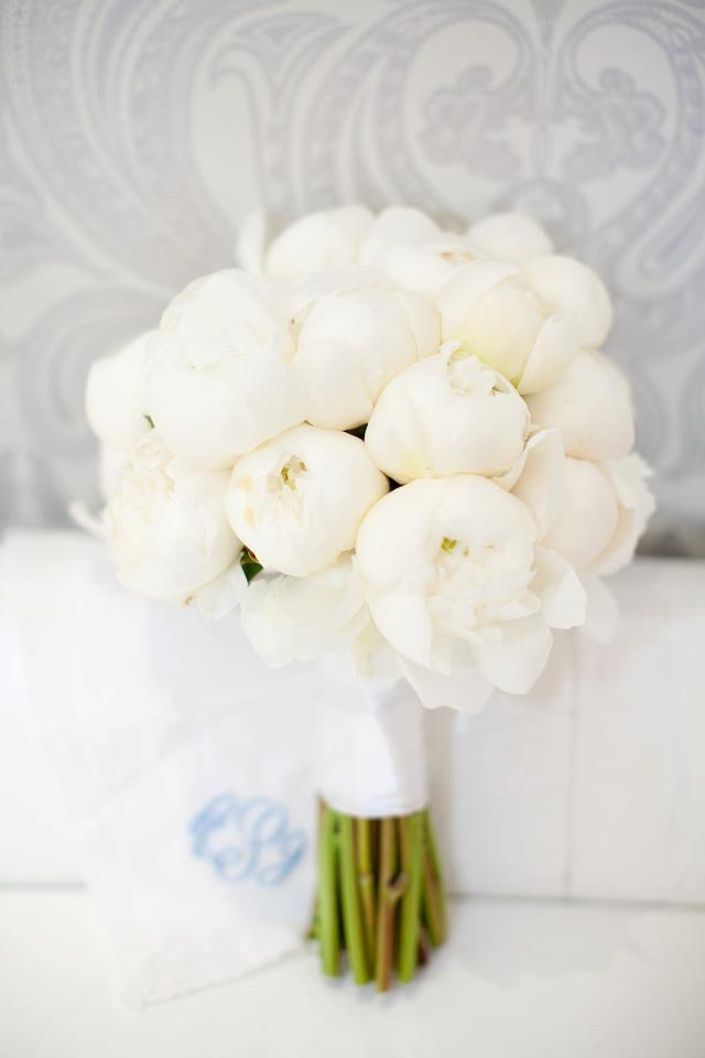 weddinginspirasi:  Classic white peony wedding bouquet for an all white wedding theme. Beautifully captured by Erin Hearts Court Floral designed by Sky Events & Production