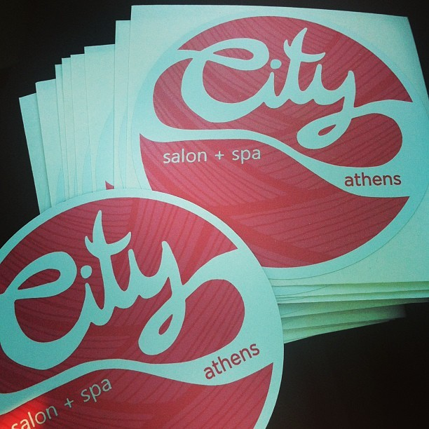 Remember this design? City Salon ordered some stickers and magnets! I used to have a pretty serious lisa frank sticker collection, so I am rather excited.