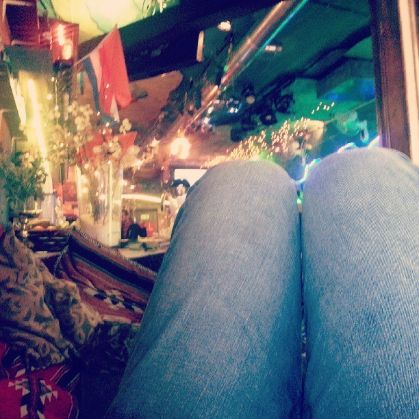 Nursing my hangover in the loveliest coffee shop.