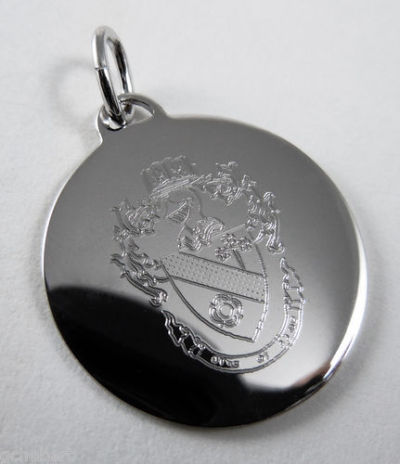 goodthingsfromlouisiana:  Theta Phi Alpha Silver Crest Engraved Charm available in Good Things From Louisiana, an ebay store.