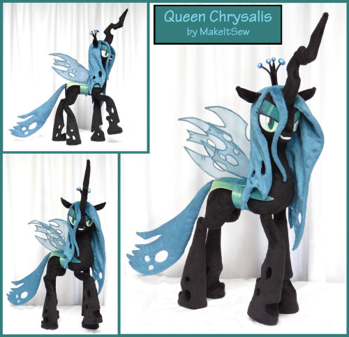 ecmajor:  imaponeigh:  royalcanterlotvoice:  MLP Queen Chrysalis Plushie by ~MakeItSew shes going to make one for fluffle puff's mod@!!  *sploosh*  daaaaaayumm