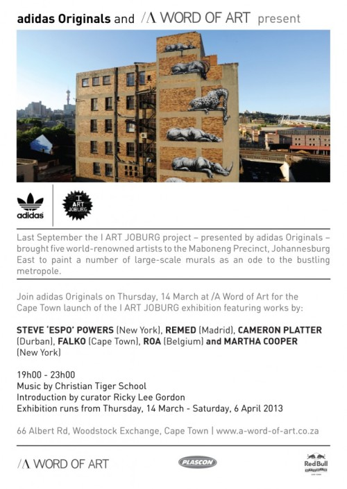 ADIDAS & IARTJOBURG EXHIBITION COMING TO CAPE TOWN