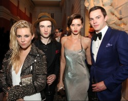 fyabbeyleekershaw:  MET Gala 2013 After-Party: Sienna Miller, Tom Sturridge, Abbey Lee and Nicholas Hoult