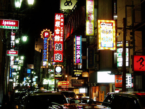 japanlove:  Osaka by Night by the_toe_stubber on Flickr.