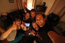 WeMakeStuff Team celebrating our crowdfunding success