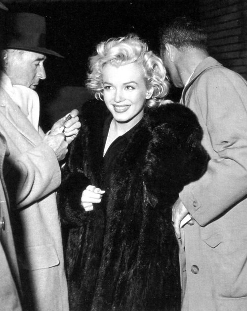 Marilyn Monroe photographed in Japan, 1954.