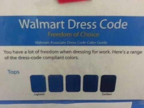 Ah yes. The Walmart approved shades of blue.