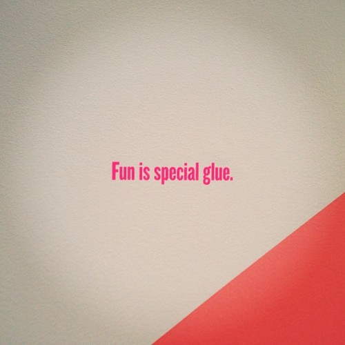 """Fun is special glue."" -Jason Evans @AGOToronto."