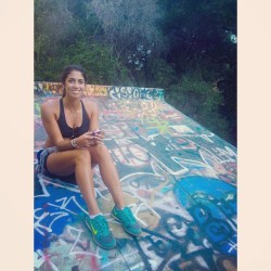 Went hiking today at Murphys Ranch todayyyyy.  My friend @stephanieohhhhh is so pretty you guys should check her out. Beach Babe. #murphysranch #la #graffiti #pretty #cutegirls #tan #sporty #fitness #nikes #hiking #legsfordays #sexy #follow #ootd #workout #personaltrainer #beachbod