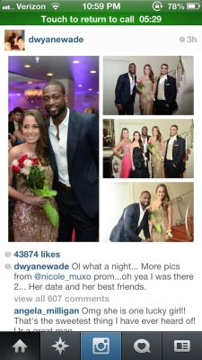 lovingbasketball:  More pics from Dwyane Wade's night out with prom date, Nicole