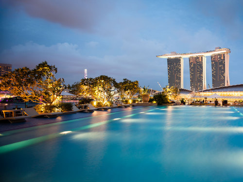 Singapore Travel Guide | A view of the Marina Bay Sands from the Fullerton Bay Hotel
