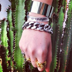 Cactus Vibes 🌵🌵🌵 with the Luv Aj Plain Cuff in Blue (#regram from @zanitazanita)