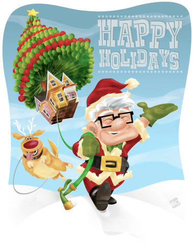 New Artwork Has Carl From UP Wishing You Happy Holidays. Hear from artist Keith Frawley!